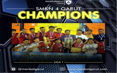 SMKN 4 Garut Raih Gelar Juara Liga 1 Futsal